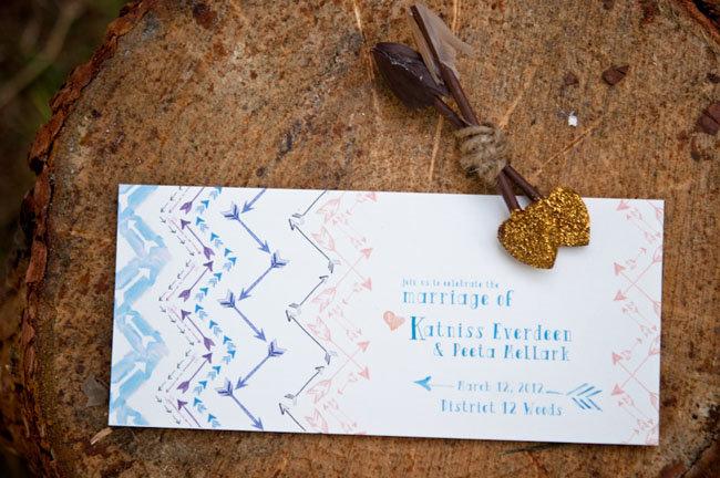 Watercolor Arrow Invitations