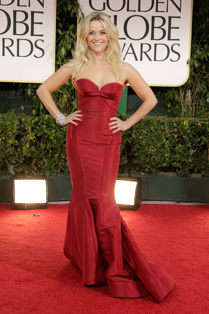 Reese Witherspoon in Zac Posen at 2012 Golden Globes