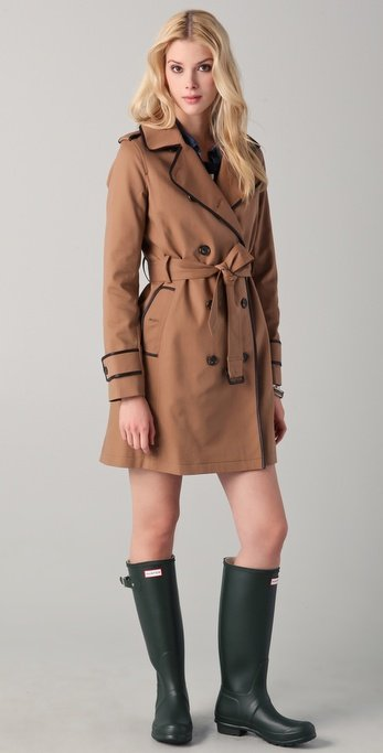 The contrast stitching on this gives it a more modern, polished feel.  Club Monaco Micah Trench Coat ($329)