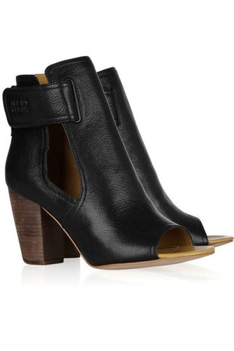 See by Chloé | Cutout leather ankle boots | NET-A-PORTER.COM