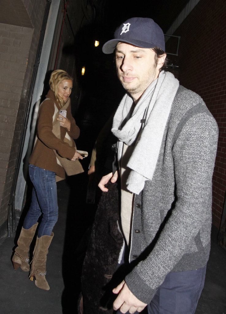 Kate Hudson came out to support her pal Zach Braff.
