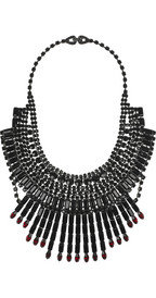 Tom Binns Dumont Swarovski crystal bib necklace