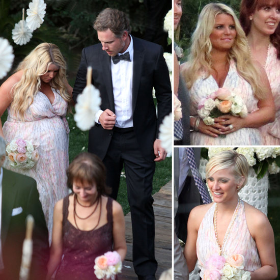 Pregnant Jessica Simpson Walks Down the Aisle — at a Friend's Wedding!