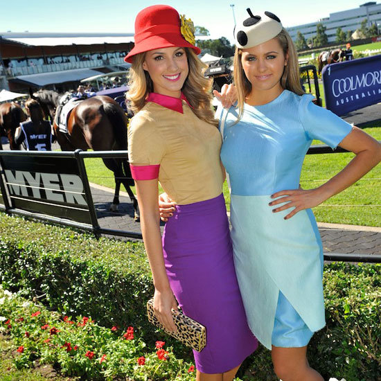 Jesinta Campbell, Laura Dundovic, Bridget Abbott, Kate Waterhouse Frock up for 2012 Myer Ladies Day at Rosehill Racecourse