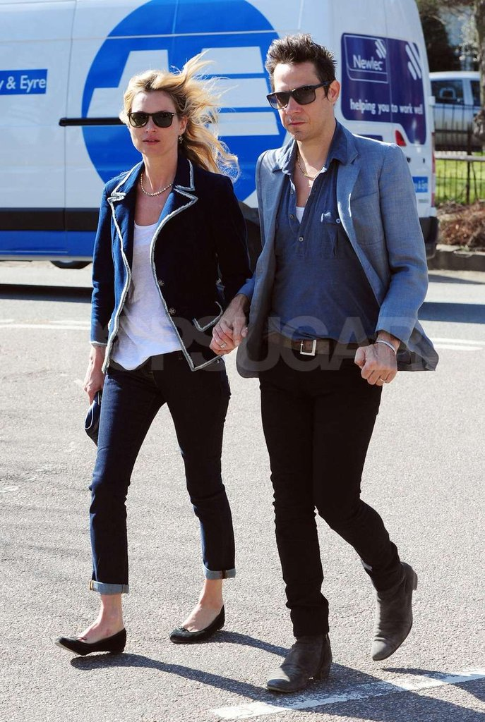 Kate Moss and Jamie Hince take a stroll near their home in London.