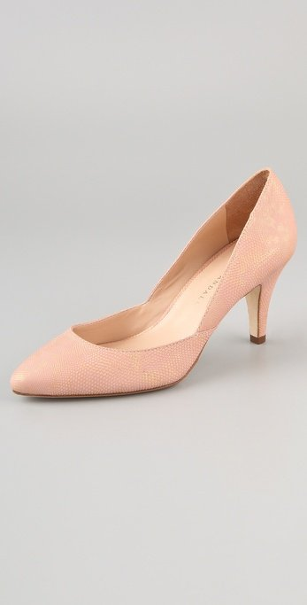 This awesome neutral iteration also boasts a pretty walkable heel.  Loeffler Randall Tamsin Stamped Lizard Pumps ($325)