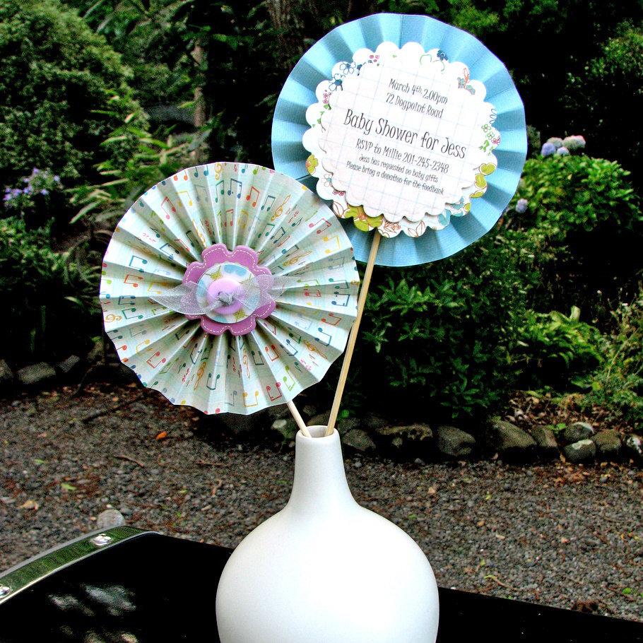 Ruffle Flower Invitations