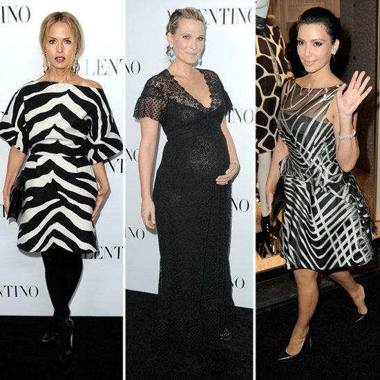 Rachel Zoe Kim Kardashian Pictures at Valentino Opening