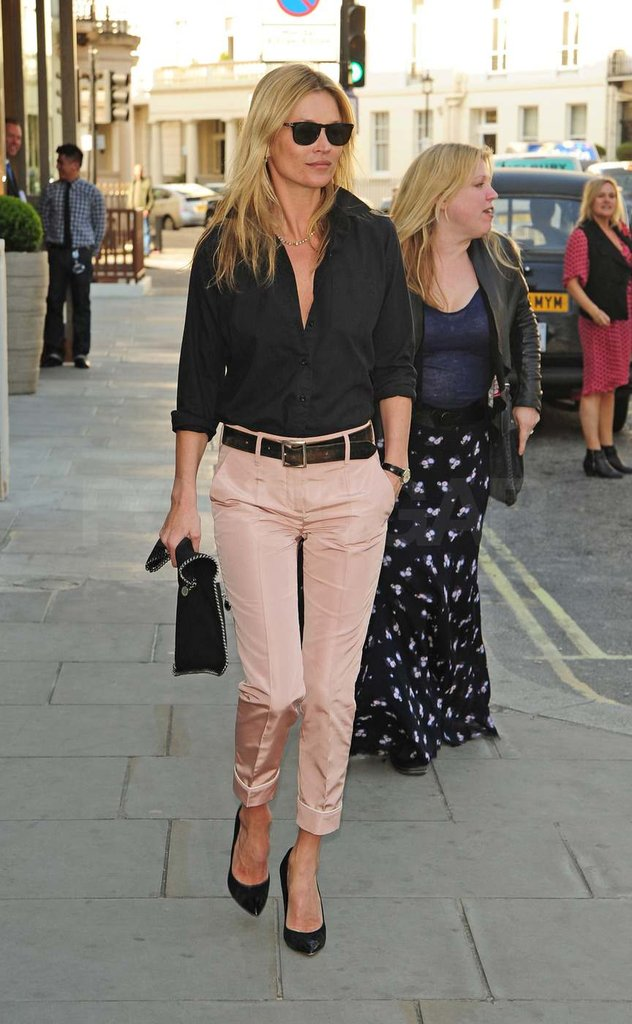 Kate Moss went to lunch in London.