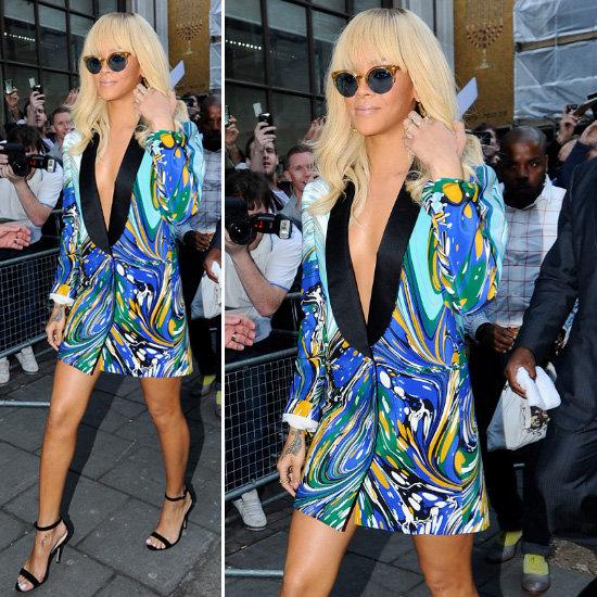 Rihanna Print Tuxedo Blazer