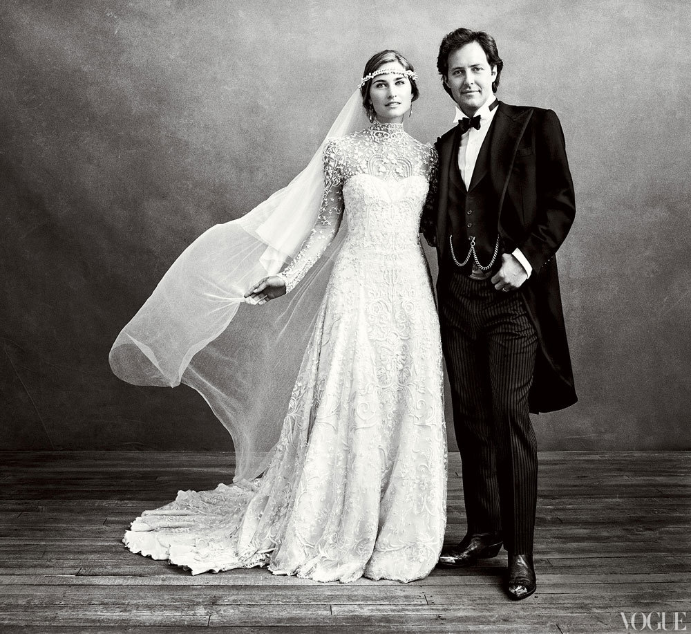David Lauren and Lauren Bush shared pictures of their September 2011 ceremony in Vogue.