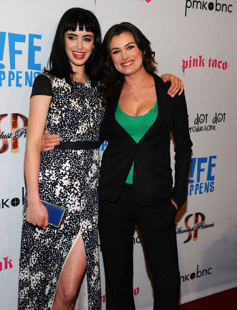 Krysten Ritter and director Kat Coiro together at the premiere of Life Happens in Century City.
