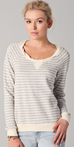 Aside from the sweet twisted banding at the scooped neckline, this cozy sweatshirt is perfect for layering on chilly evenings. Splendid Sahara Stripe Pullover ($59, originally $84)