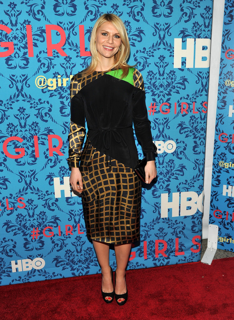 Claire Danes attended the premiere of HBO's Girls in NYC.