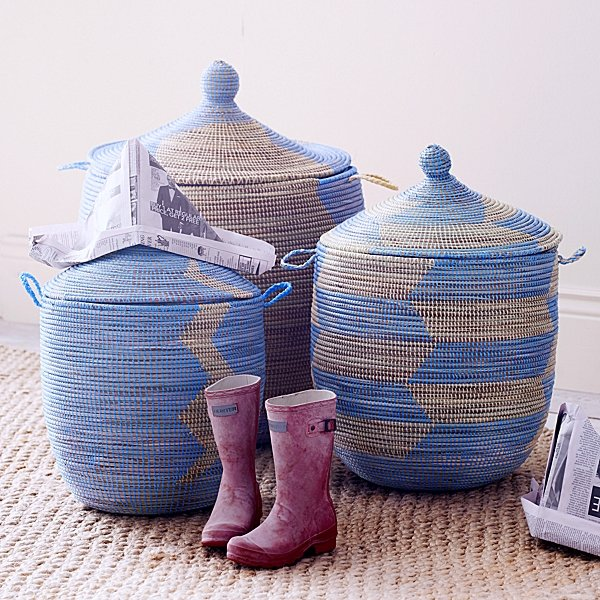For the Nursery: Serena & Lily Senegalese Storage Baskets