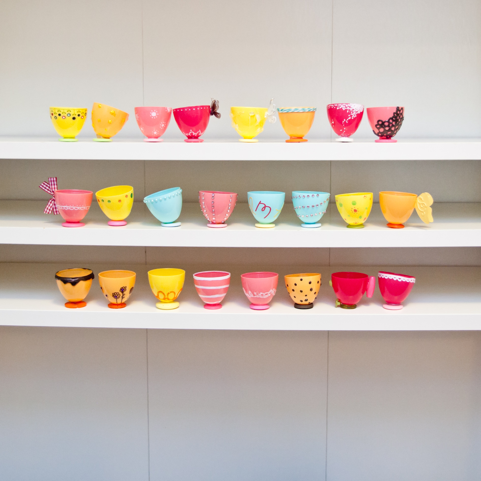Plastic Easter Egg Teacups