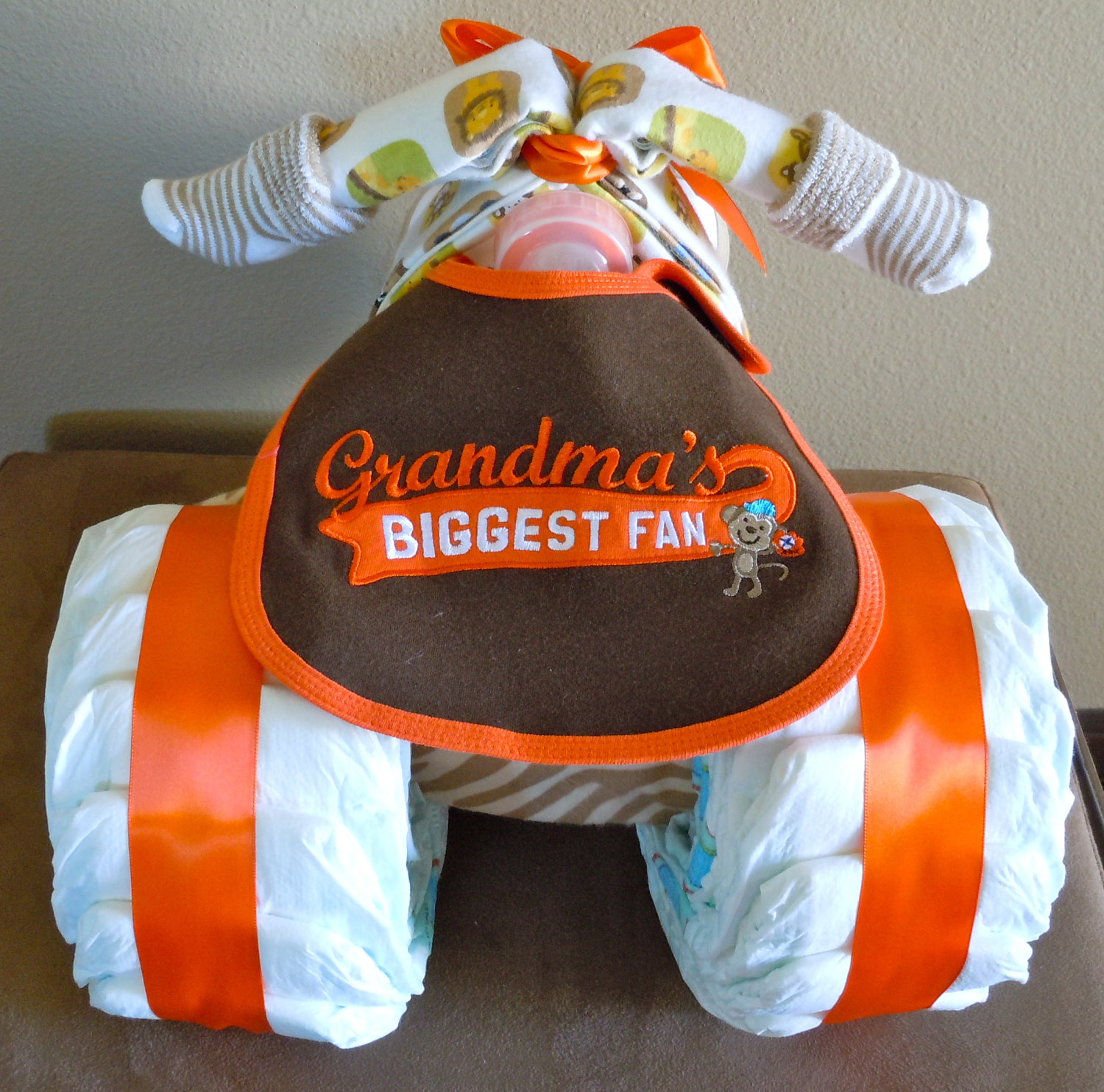 Tricycle diaper cake it s not a baby shower without a diaper cake