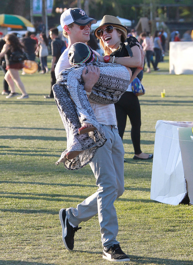 Emma Roberts and Chord Overstreet got goofy on Saturday.