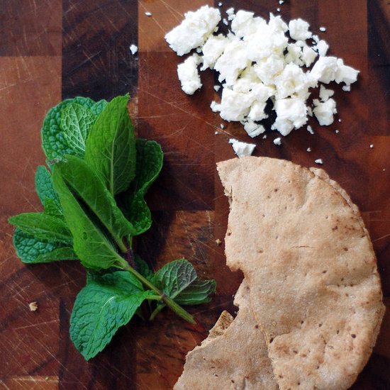Pita Bread With Feta Cheese and Mint Recipe