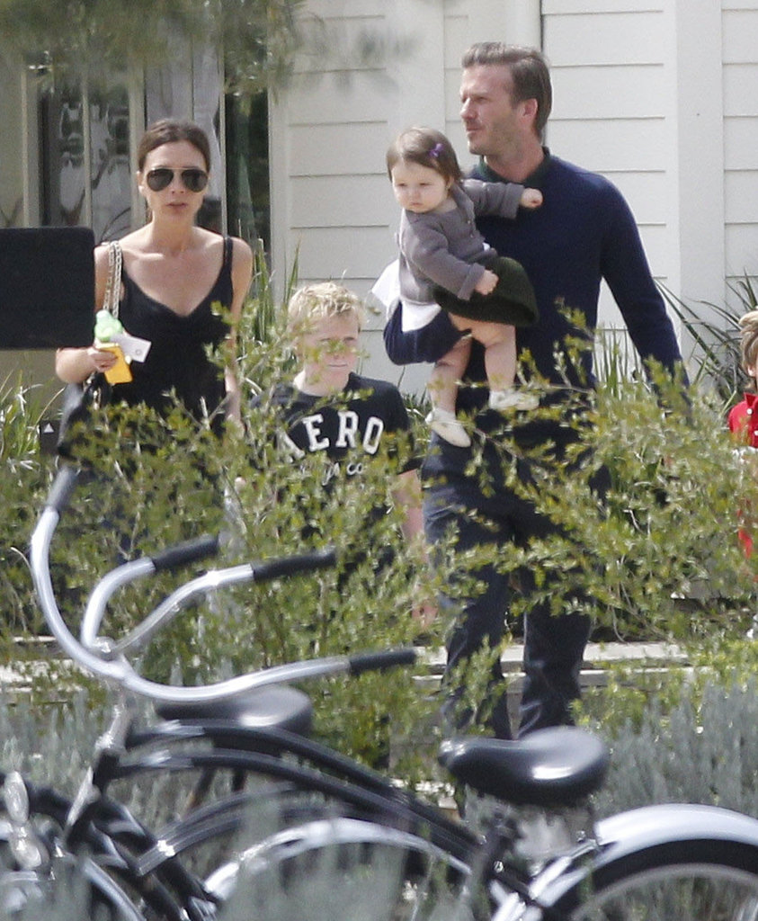 Victoria and David Beckham had a family outing on Easter.