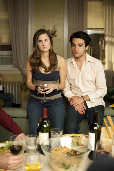Allison Williams and Chris Abbott in Girls.