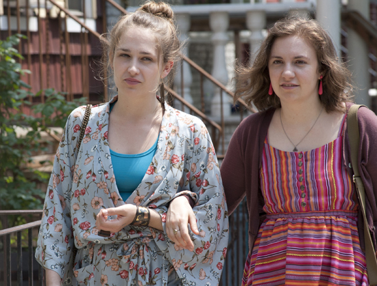 Jemima Kirke and Lena Dunham in Girls.