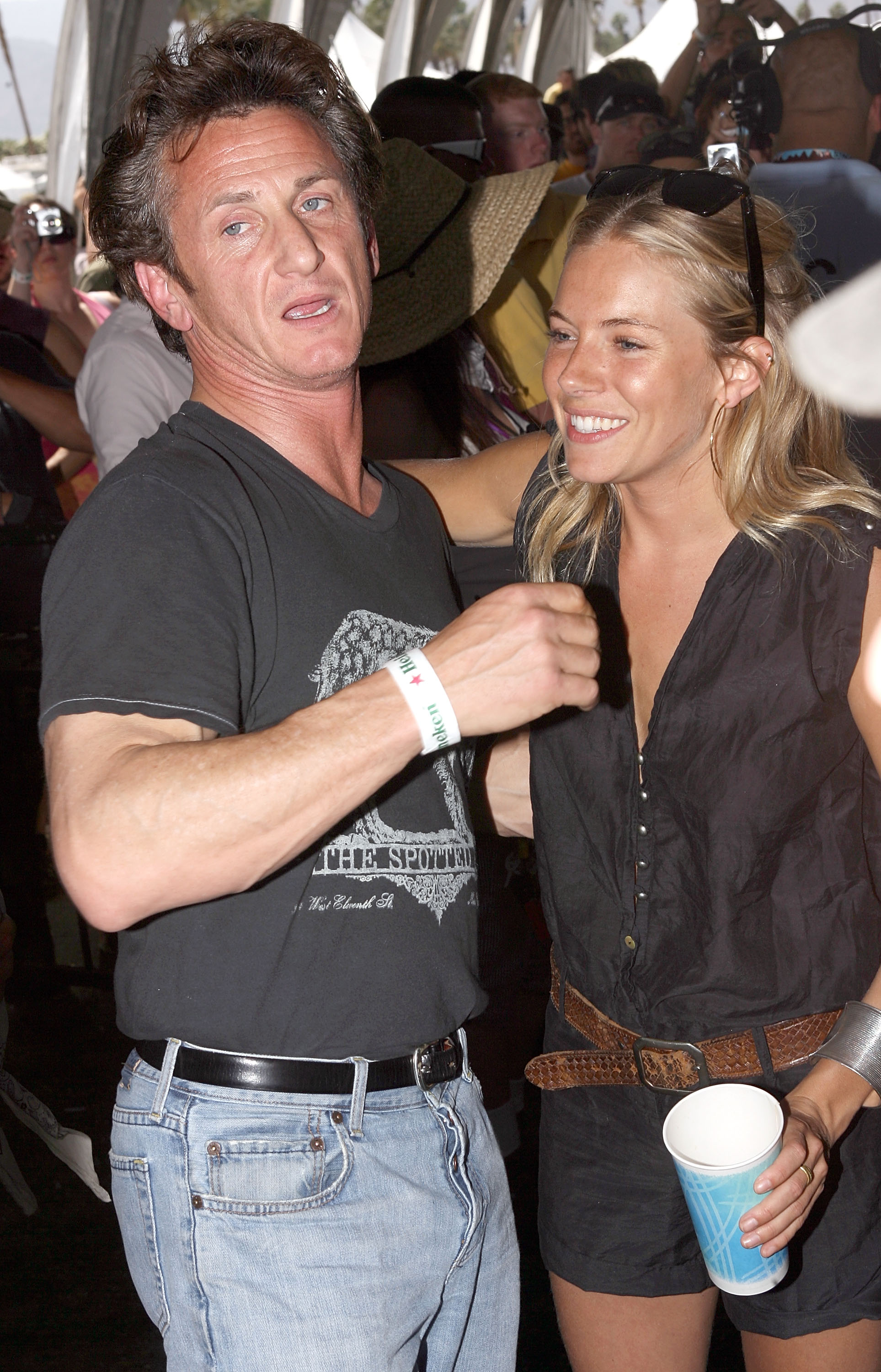 Sean Penn and Sienna Miller met up in 2008.