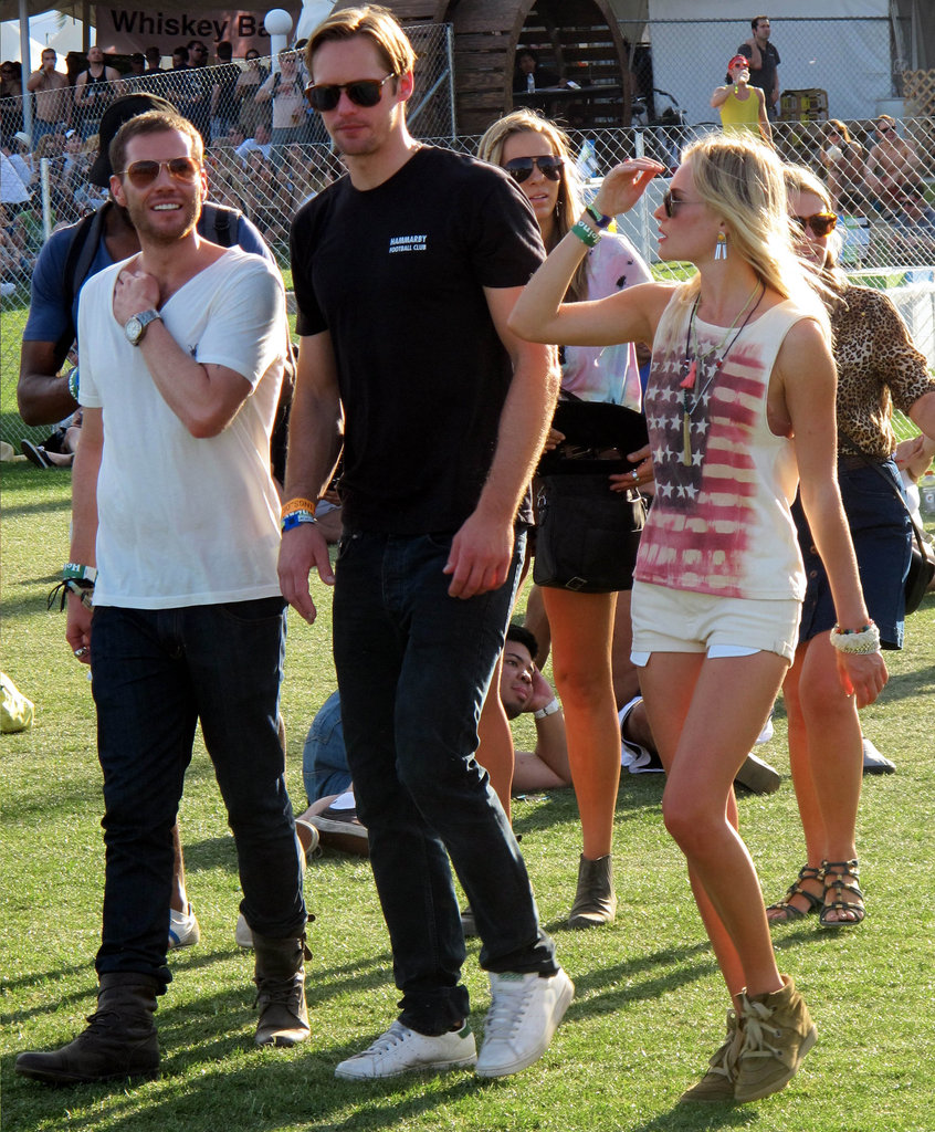 Kate Bosworth walked alongside then-boyfriend Alexander Skarsgård in 2011.