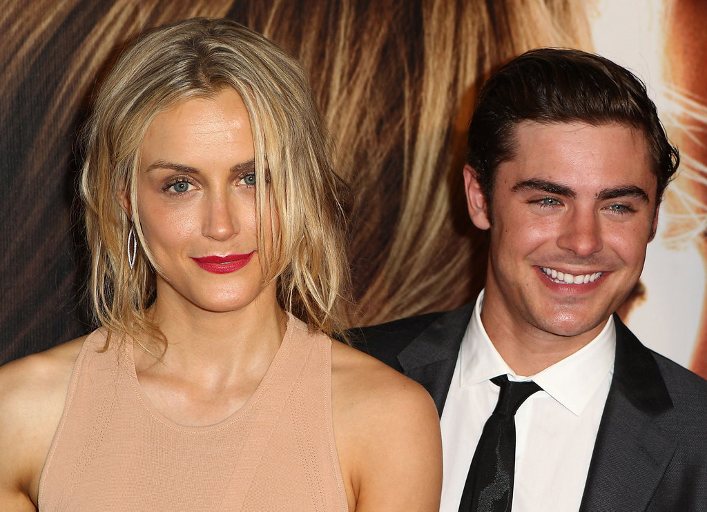 Taylor Schilling and Zac Efron together at The Lucky One premiere in Melbourne.