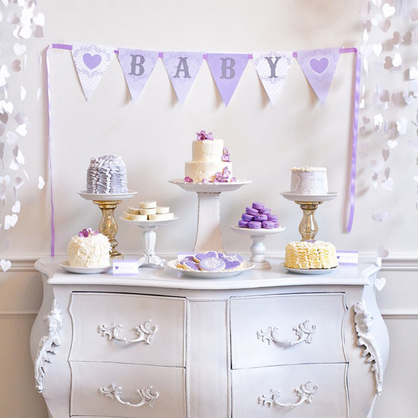 lavender baby shower popsugar moms