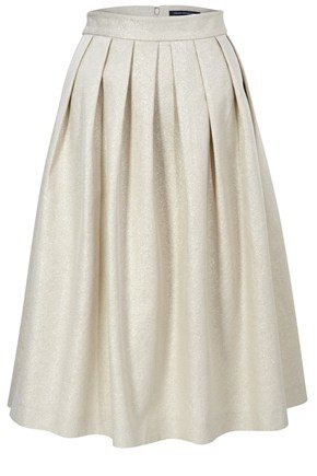 To mimic Louis Vuitton's look, pair this high waisted skirt with a lace crop top.  French Connection Metal Torre Skirt  ($228)