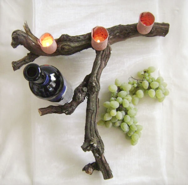 Rustic Branch Candleholder