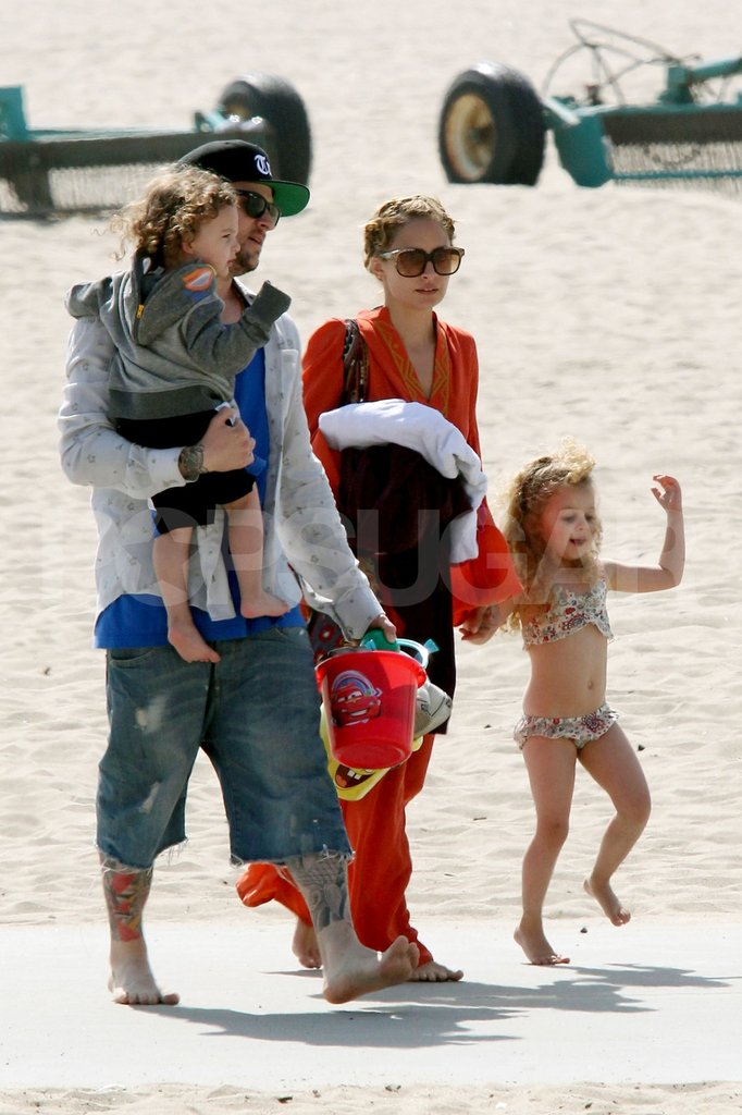 Nicole Richie and Joel Madden celebrated Easter as a family with a trip to the beach in Malibu with their children, Harlow and Sparrow Madden.