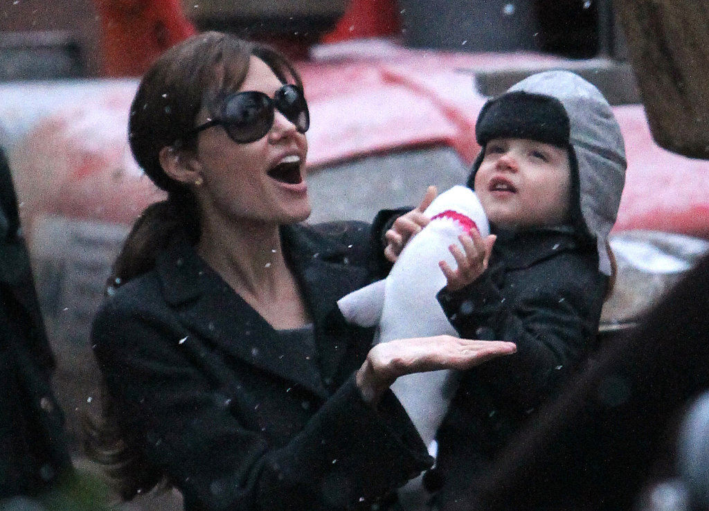 Angelina Jolie was in Paris in December 2010 with Knox.