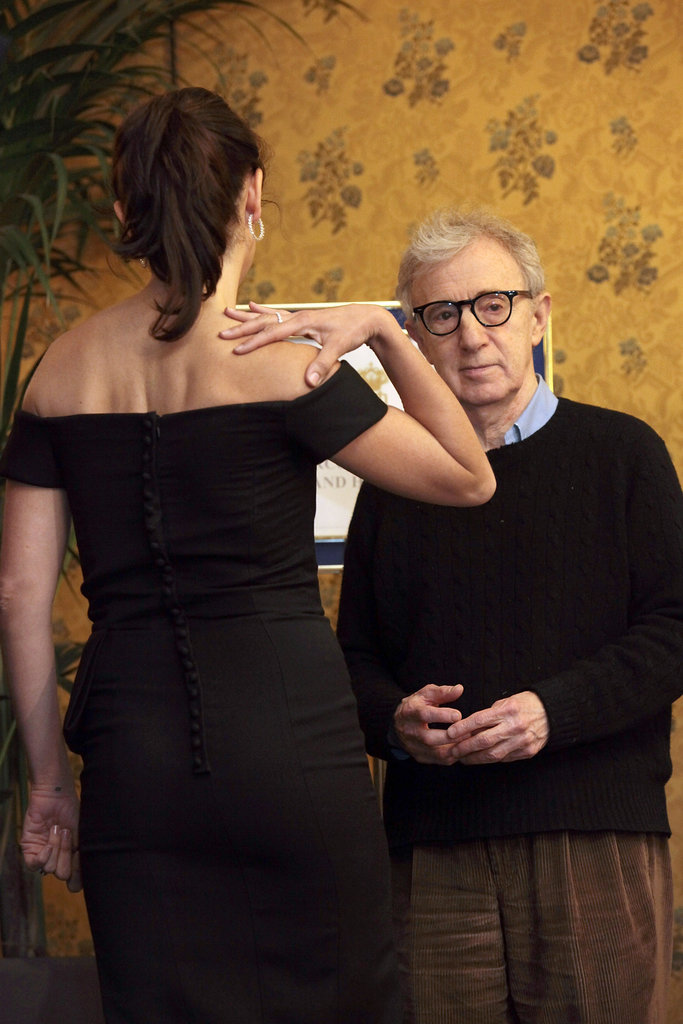 Penelope Cruz and Woody Allen spent time chatting in Rome.