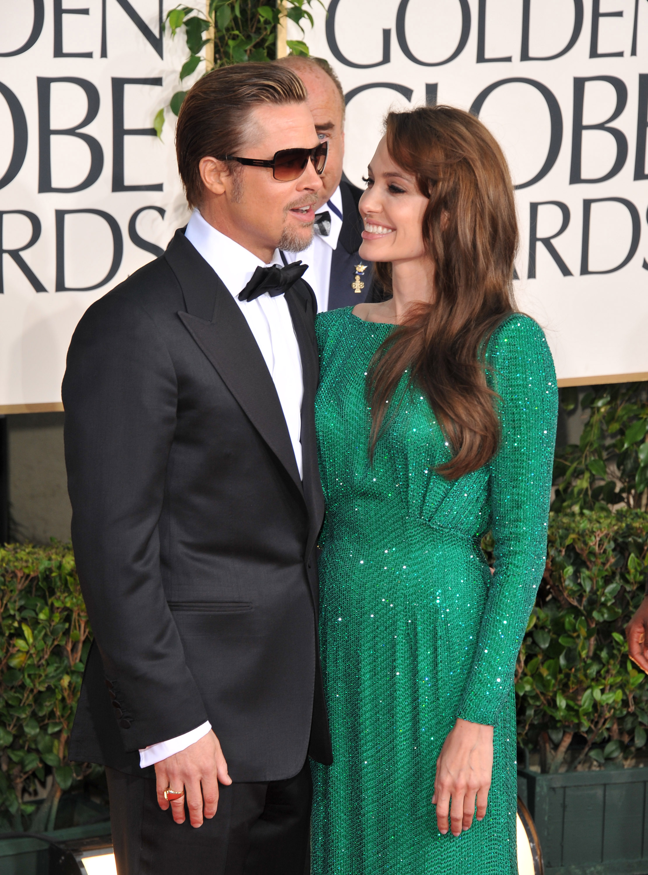 Angelina Jolie and Brad Pitt sparkled at the January 2011 Golden Globes.