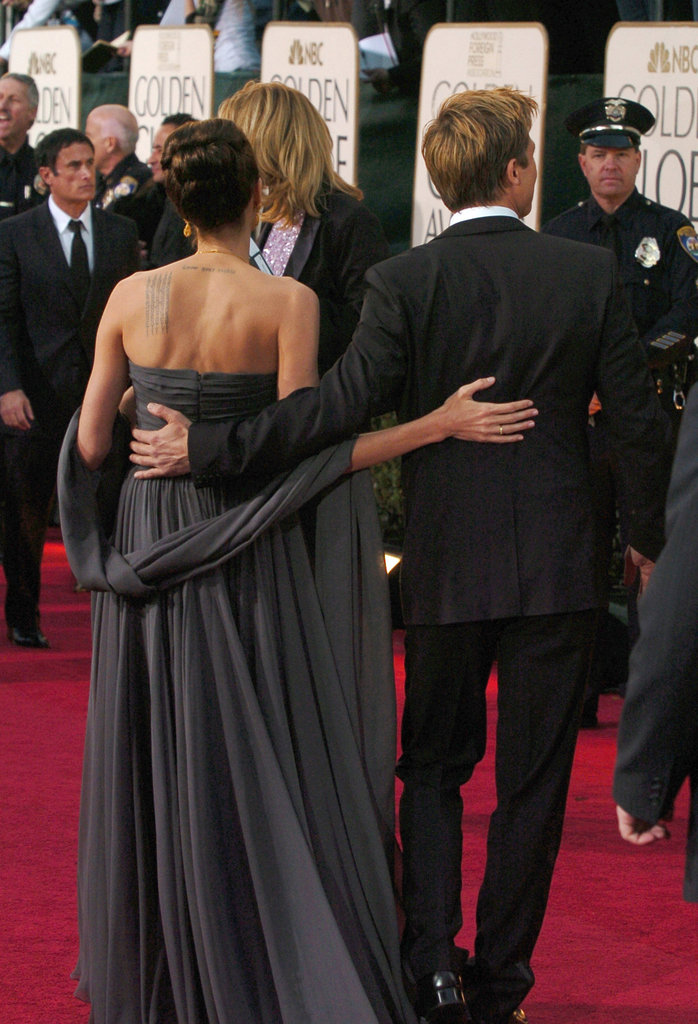 Angelina Jolie and Brad Pitt arrived together at the 2007 Golden Globe Awards in LA.