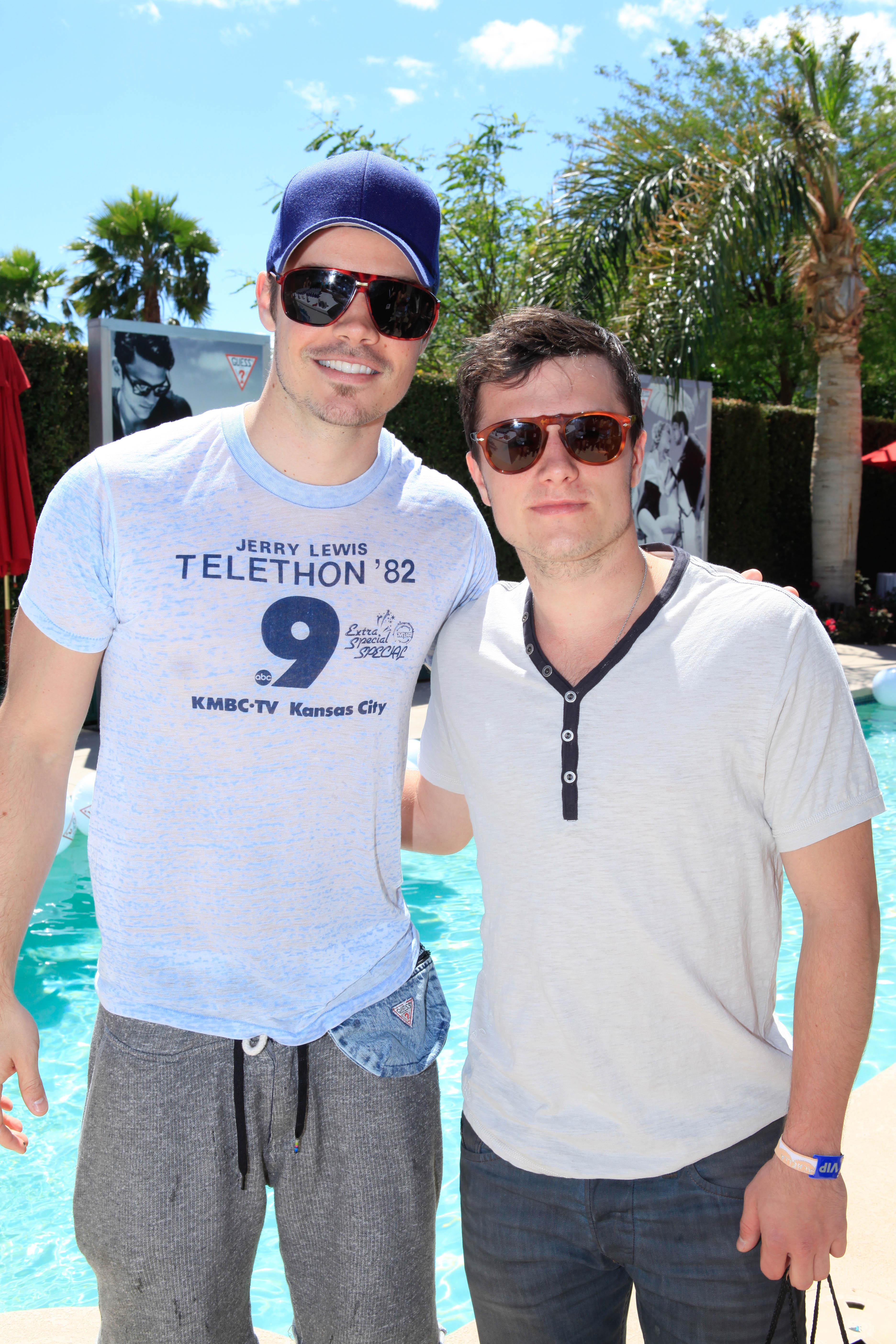Josh Henderson and Josh Hutcherson got together at the Guess party in 2012.