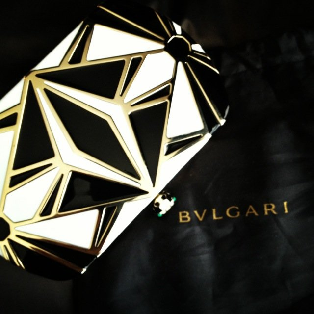 Megan Gale will be carrying this Bulgari clutch at the Logies.