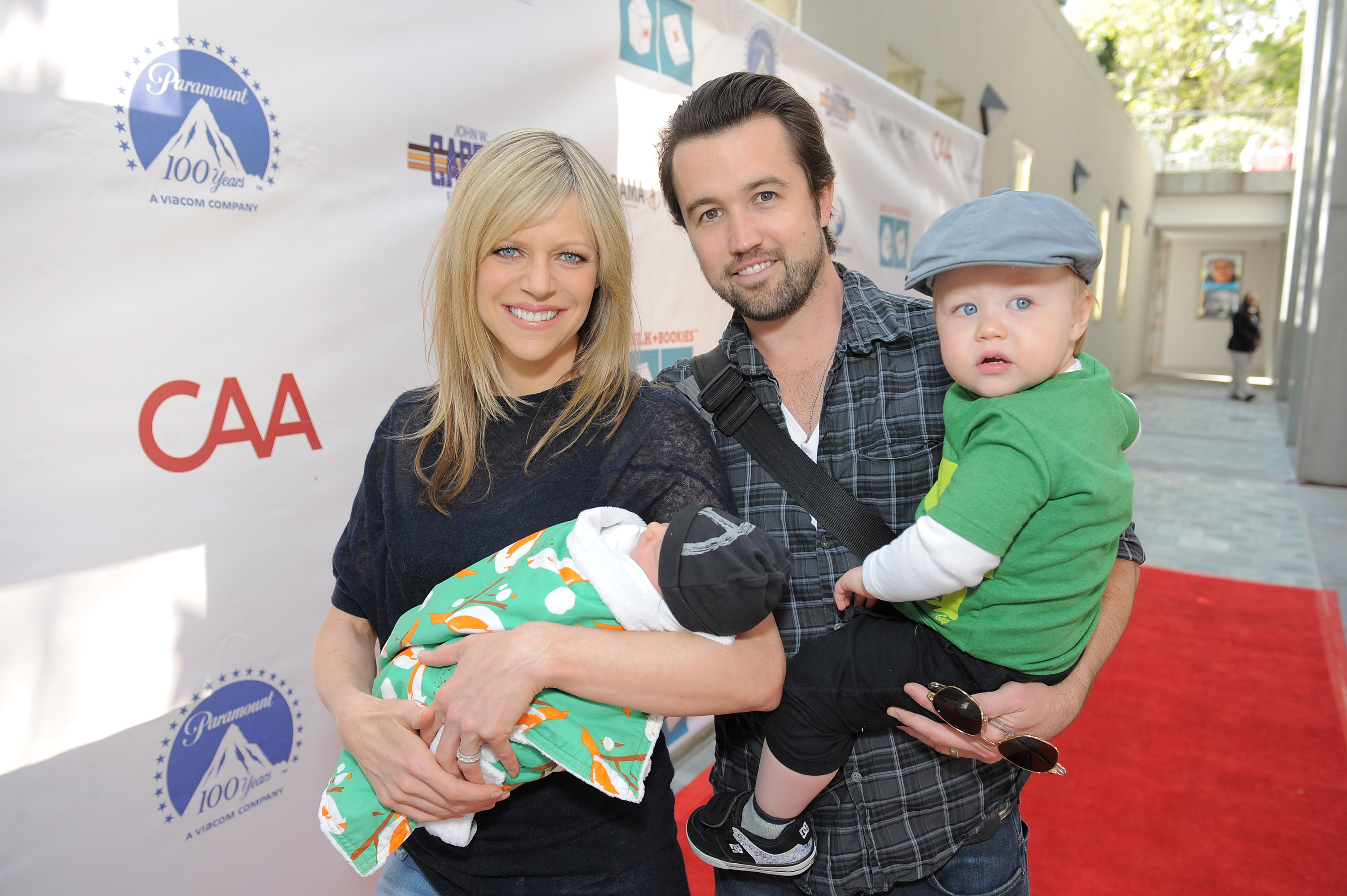 Kaitlin Olson And Rob McElhenney Brought Their Kids With Them To