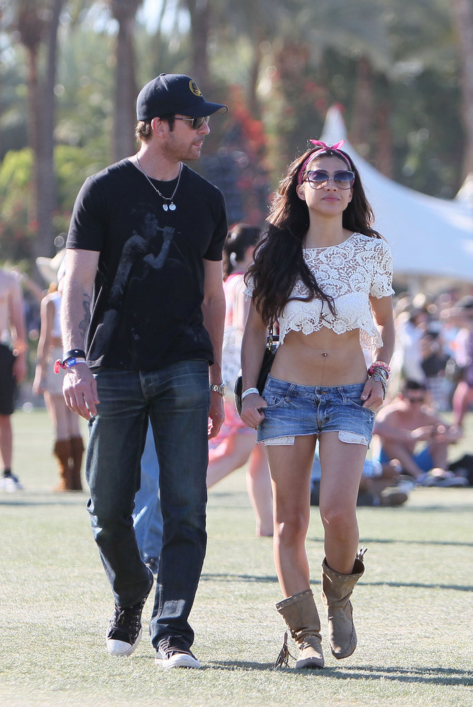 Dylan McDermott spent the festival weekend with girlfriend Shasi Wells.