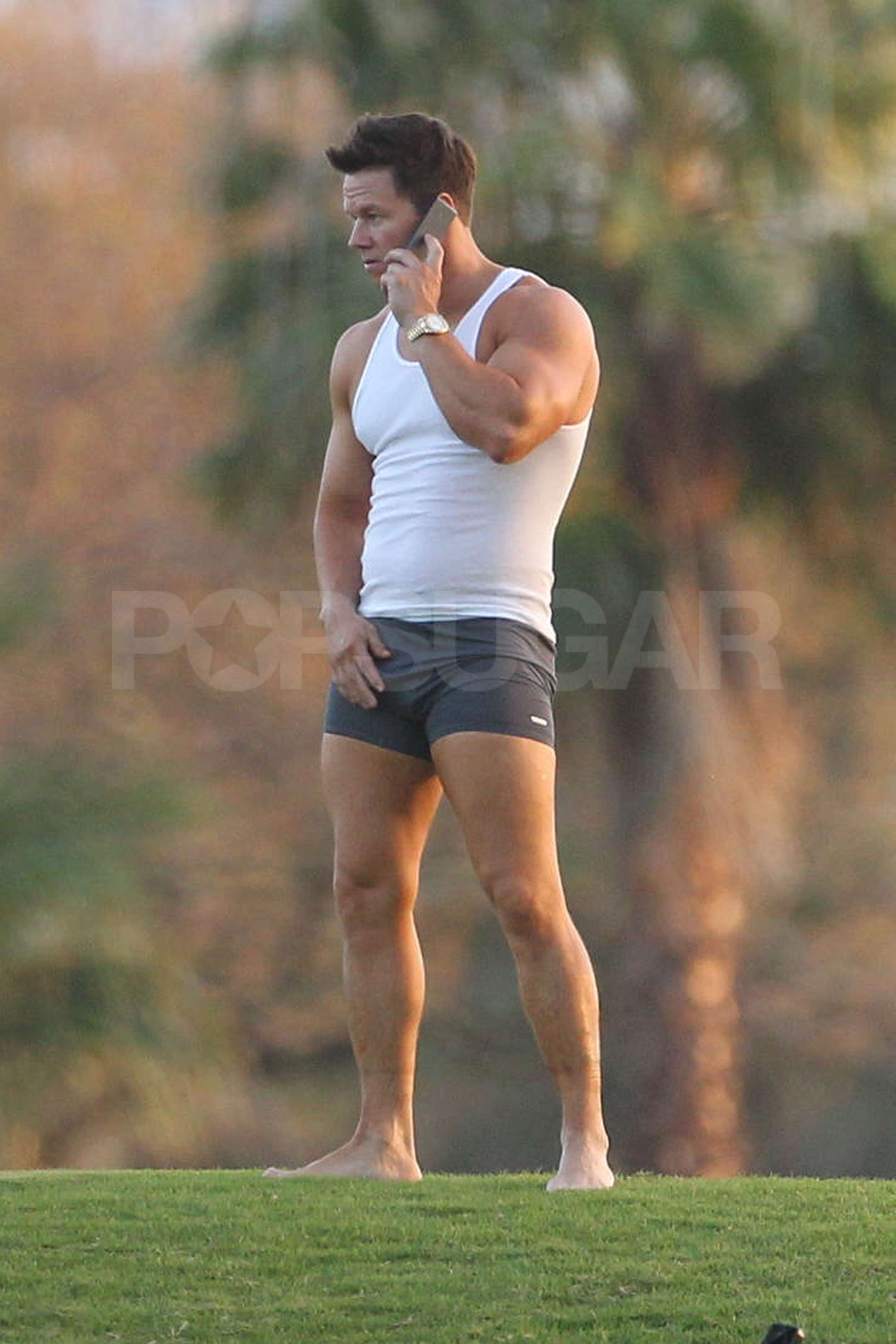 Mark Wahlberg Showed Off His Body In Boxer Briefs And A
