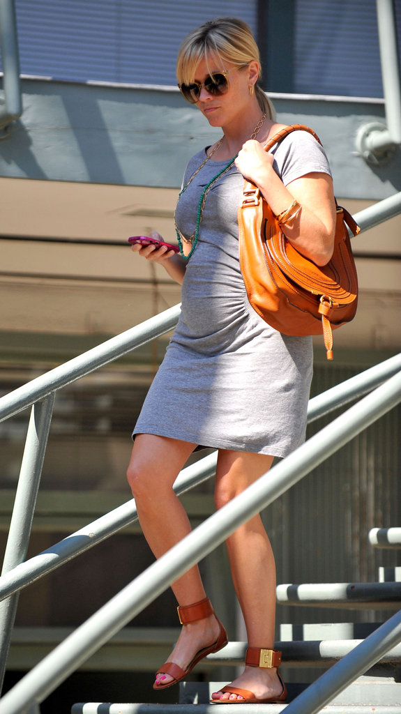 Reese Witherspoon Goes Tight and Gray For an LA Business Day