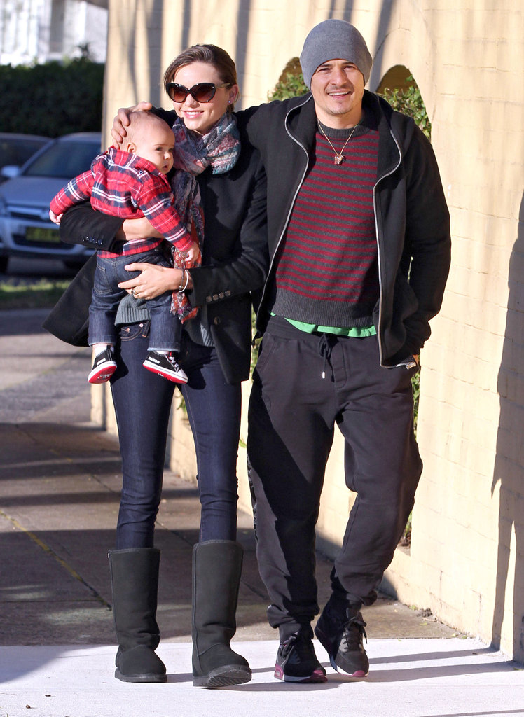 Miranda Kerr hung out with her boys, Orlando and Flynn Bloom, during their July 2011 stopover in Australia.