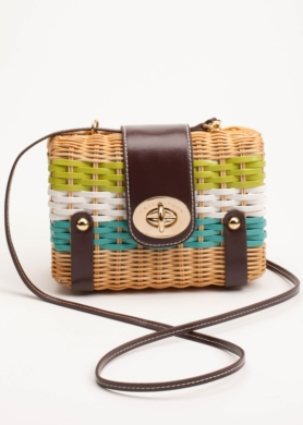 Evocative of a picnic basket, this petite wicker bag is ideal for daytime outings.  Trina Turk Juliet Cross-Body Bag ($218)
