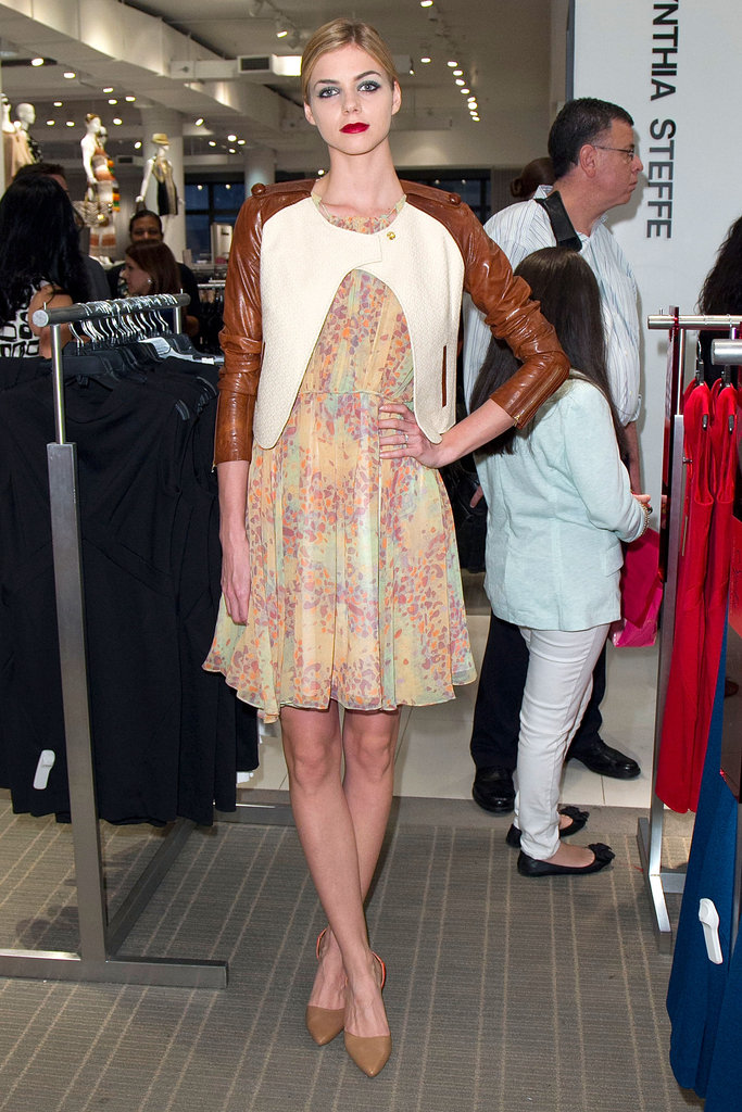 A model showed off one of the Z Spoke looks, a perfect floral dress for Spring.