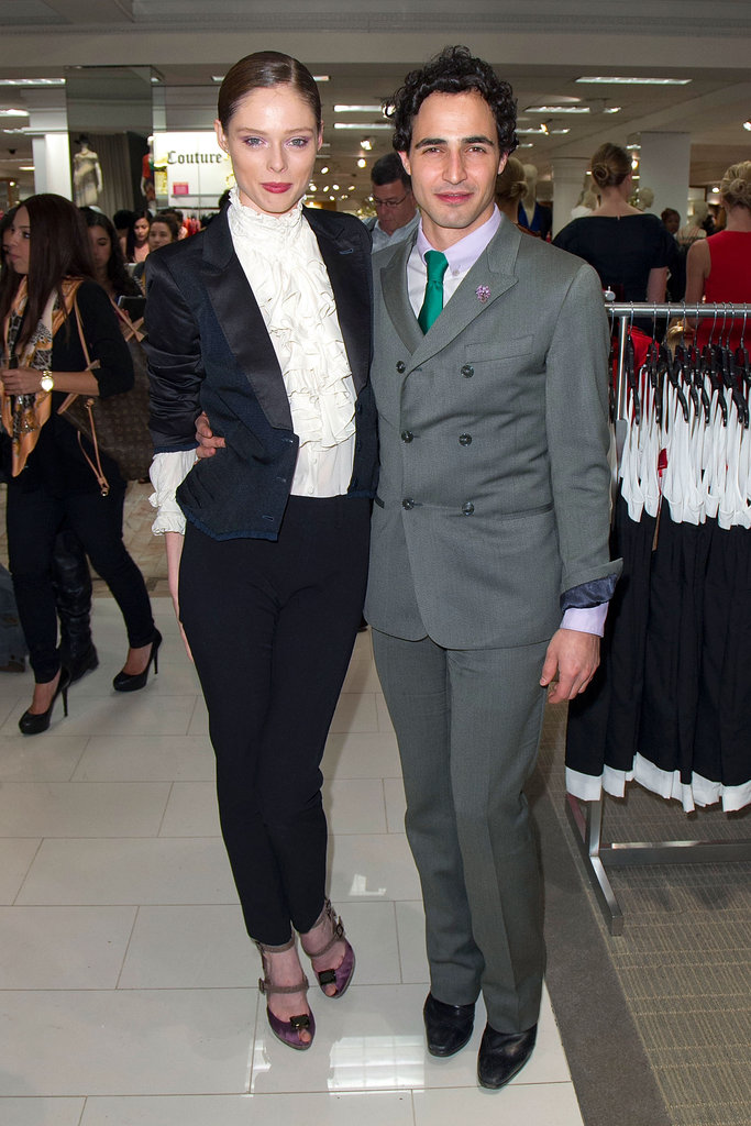 Zac joined Coco Rocha at the Z Spoke dress shop in Lord & Taylor in NYC.