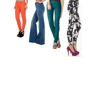 Statement Making Denim To Shop: Neon, Jewel Toned, Printed, Flared and Floral Jeans Make Their Mark!