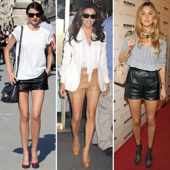 Celebs in Leather Shorts — 8 Totally Different Ways to Work the Bold Trend