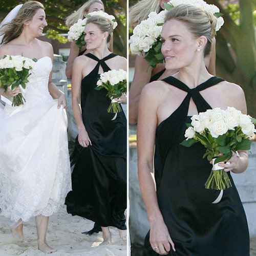 Going for a basic black bridesmaid's look? Get inspired by Kate Bosworth on CelebStyle.